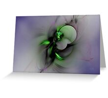 Abstract in Black and Green Greeting Card