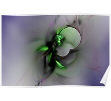 Abstract in Black and Green Poster