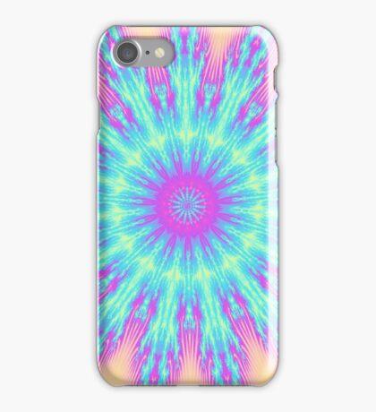 Fresh energy burst mandala iPhone Case/Skin