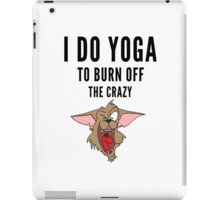 Yoga, funny Crazy Cartoon  iPad Case/Skin