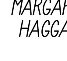 Margaret Haggard Logo - White Sticker