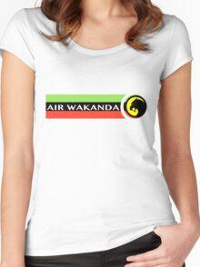 Air Wakanda- Logo Women's Fitted Scoop T-Shirt