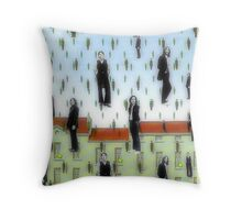 Beatles and Magritte Throw Pillow