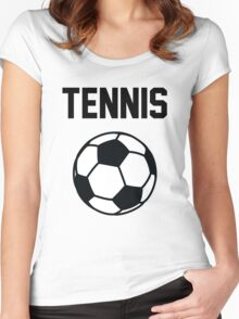 Tennis - Black Women's Fitted Scoop T-Shirt