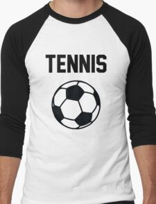 Tennis - Black Men's Baseball ¾ T-Shirt