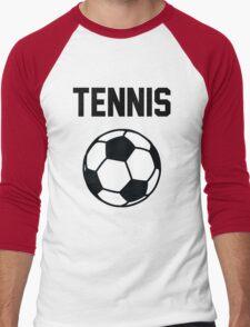 Tennis - Black Men's Baseball ¾ T-Shirt