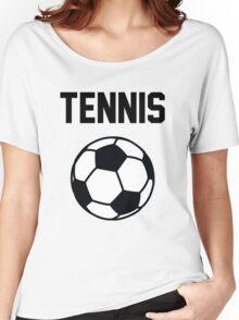 Tennis - Black Women's Relaxed Fit T-Shirt