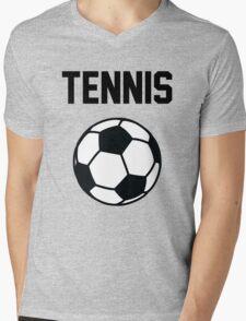 Tennis - Black Mens V-Neck T-Shirt