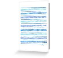Blue Arrows Greeting Card