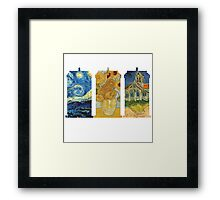Vincent and The Doctor (White) Framed Print