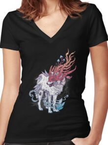 Spirit Animal - Wolf Women's Fitted V-Neck T-Shirt