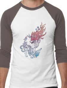 Spirit Animal - Wolf Men's Baseball ¾ T-Shirt