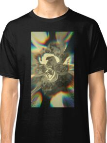 Orchid Crystal Chaos - Floral Geometry Study  Classic T-Shirt