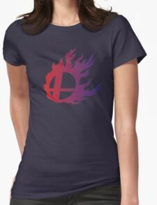 Super Smash Bros. Flame Womens Fitted T-Shirt