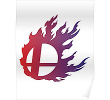 Super Smash Bros. Flame Poster
