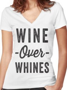 Wine Over Whines Women's Fitted V-Neck T-Shirt
