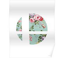 Super Smash Bros. Floral Poster