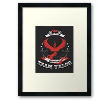 Team Valor Pokemon Go  Framed Print