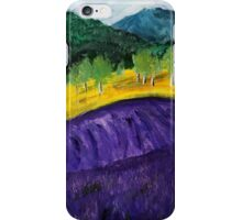 Lavender Fields Colorful Countryside Purple Flowers Acrylic Painting iPhone Case/Skin