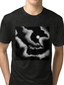 Moon and Clouds Tri-blend T-Shirt