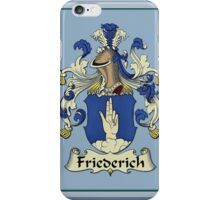 Friederich Family Coat-Of-Arms/Crest iPhone Case/Skin