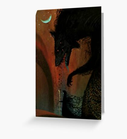 Dread Wolf/Solas Tarot Card Dragon Age Inquisition  Greeting Card
