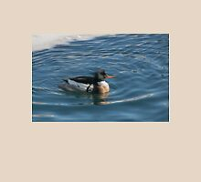 Merganser Encircled in Icy Water at Harbourfront Unisex T-Shirt