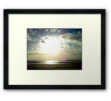 Sunshine Over Swansea Bay  Framed Print
