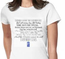Doctor Who River Song Quote Womens Fitted T-Shirt
