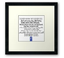Doctor Who River Song Quote Framed Print