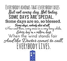 Doctor Who River Song Quote Photographic Print
