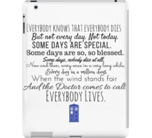 Doctor Who River Song Quote iPad Case/Skin