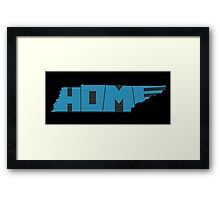 Tennessee HOME state design Framed Print