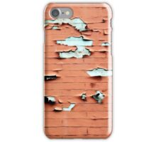 Patchy Orange and White Brick Wall - Cases and Pillows iPhone Case/Skin