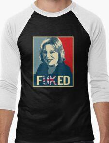 Theresa May / Fuked Men's Baseball ¾ T-Shirt