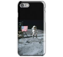 Commander John Young Jumps & Salutes the Flag iPhone Case/Skin