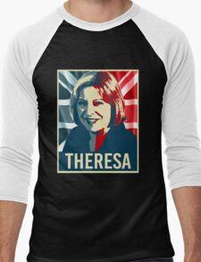 Theresa May Poster Men's Baseball ¾ T-Shirt