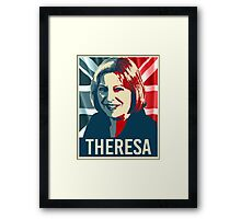 Theresa May Poster Framed Print
