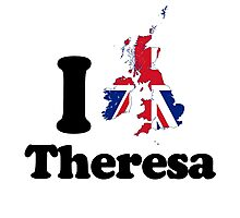 I Love Theresa May Photographic Print
