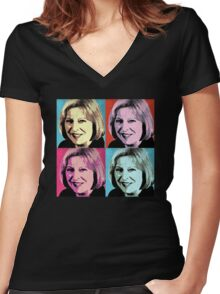 Theresa May Pop Art Women's Fitted V-Neck T-Shirt