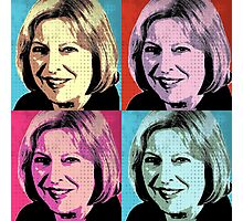 Theresa May Pop Art Photographic Print