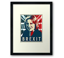 Theresa May Brexit Framed Print