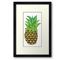 Perky Pineapple  Framed Print