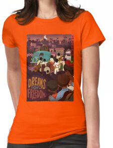 Dreams Of Freedom .. Watch Live Music Womens Fitted T-Shirt