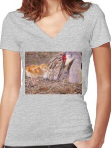 Wants attention Women's Fitted V-Neck T-Shirt