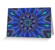 Iridescent Abalone Mother of Pearl Shell Kaleidoscope Greeting Card
