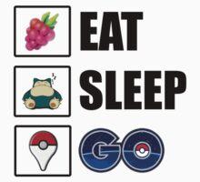 Eat, Sleep, GO - Pokemon GO One Piece - Short Sleeve