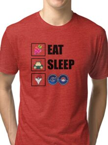 Eat, Sleep, GO - Pokemon GO Tri-blend T-Shirt