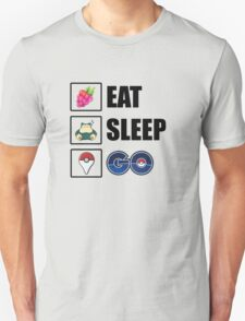 Eat, Sleep, GO - Pokemon GO Unisex T-Shirt