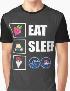 Eat, Sleep, GO - Pokemon GO Graphic T-Shirt